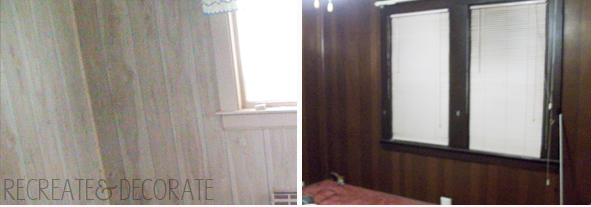 fake wood paneling